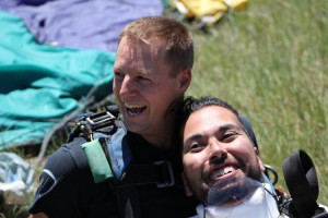 Joseph Akmakjian lands safely.
