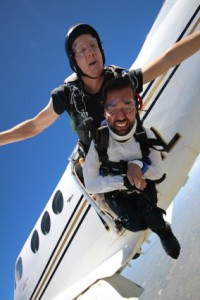 Joseph Akmakjian jumps from plane.