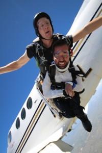 Joseph Akmakjian jumps from plane.