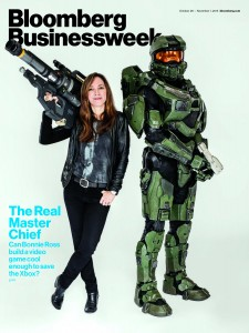 Bloomberg Businessweek's cover photo with Bonnie Ross front and center. Photo Credit: Mike Friberg