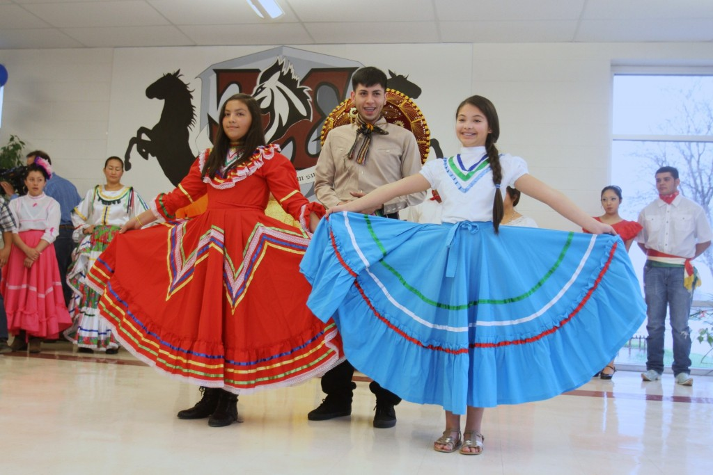 Community members showcase traditional Mexican dance styles at the International Music Festival.