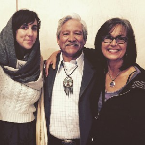 Krista Martinez with mentors and ethnic studies faculty Norberto Valdez and Roe Bubar