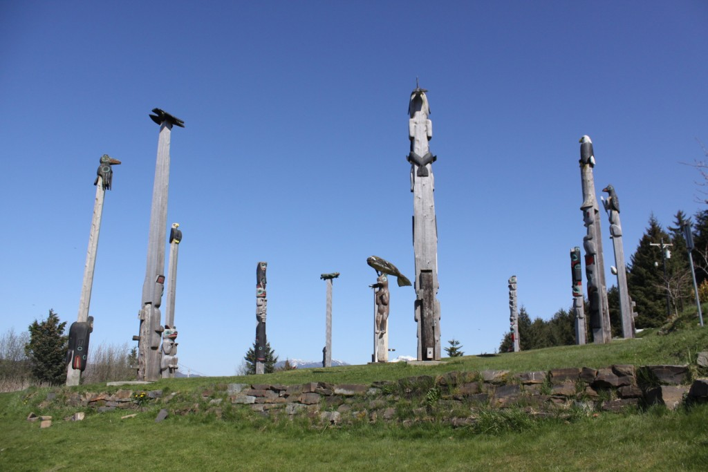 The Klawock totem park as it appeared in 2011.