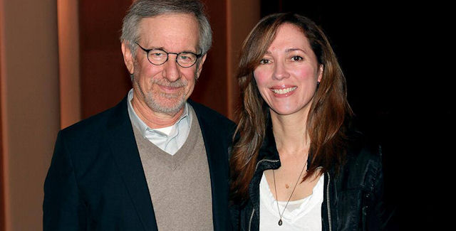 Bonnie Ross shown with Steven Spielberg. Xbox One will bring Halo Television series with Steven Spielberg.