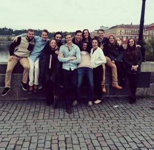 Olivia's group in Prague.