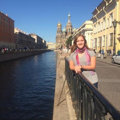 Jenna Hamilton in St. Petersburg, Russia.