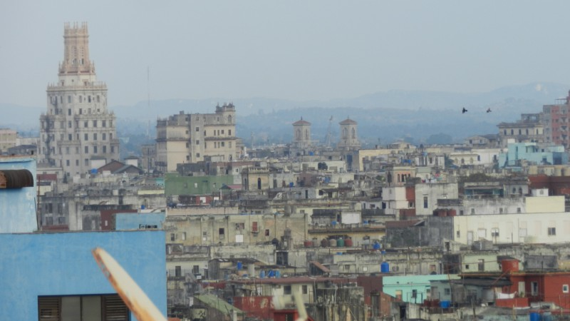 The city of Havana, from a rooftop patio.