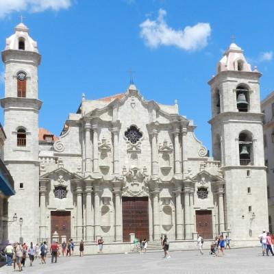 Plaza de la Catedral, Havana, Cuba.