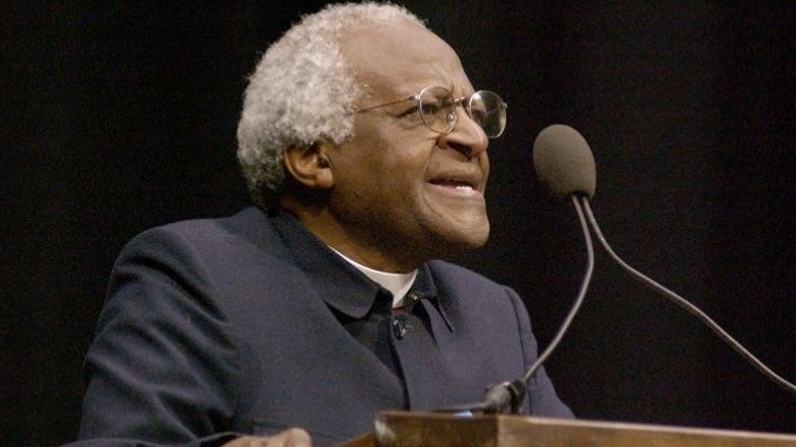Desmond Tutu spoke in Moby Arena in 2003.