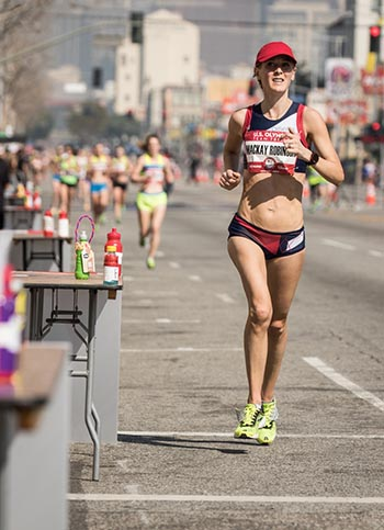 Robinson at the USA Olympic Team Trials Marathon 2016. Photo credit: kevinmorris.com