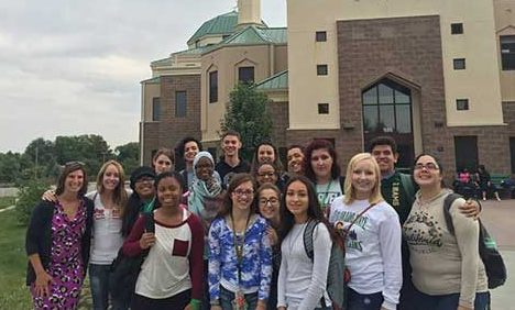 Key Interfaith Community students visit the Islamic Center of Fort Collins.