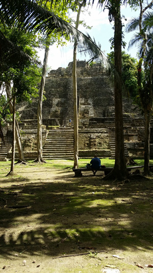 A visit to the High Temple in Lamanai, Belize. (Photo credit: Jesse Bain)