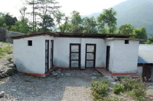 Gender specific toilets in Nepal school