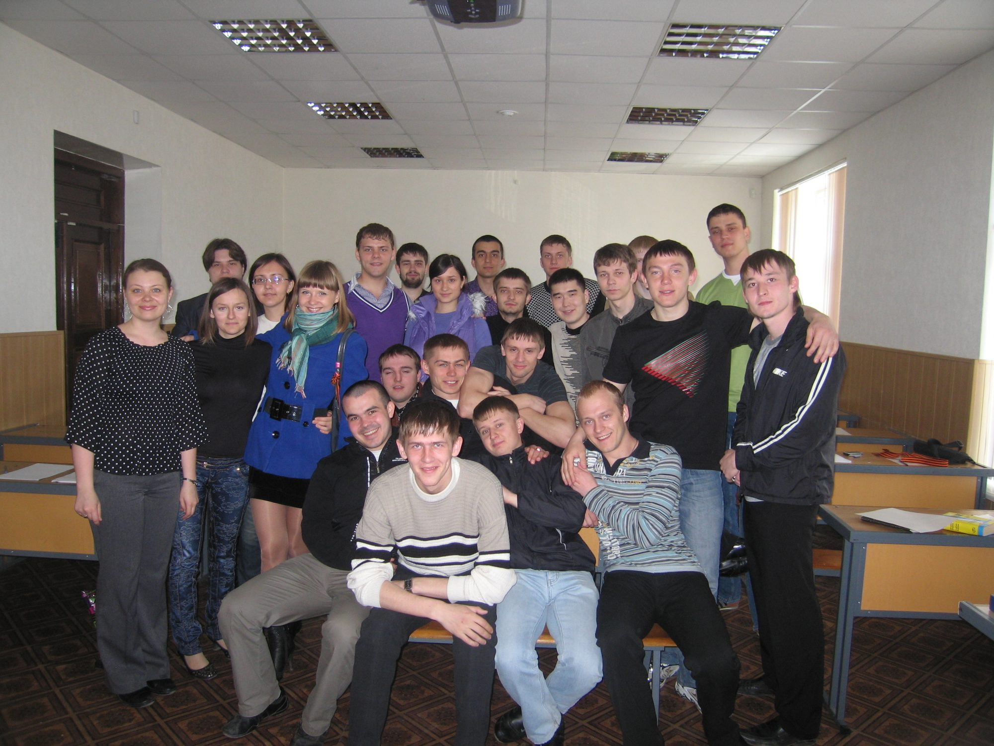 Group of students with Tatiana Nekrasova-Beker