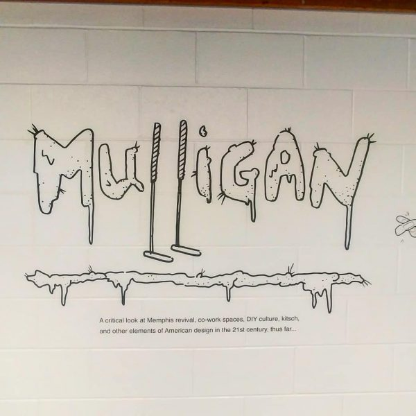 Mulligan sign in the gallery