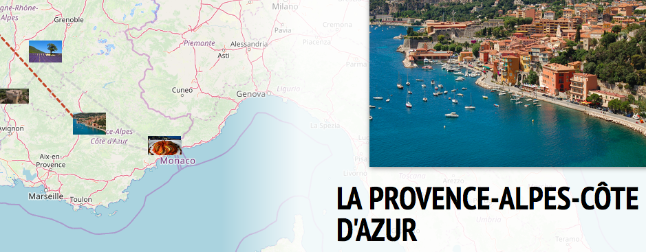 Screenshot from the multimedia Story Map tool that Assistant Professor O'Dell uses in French classes