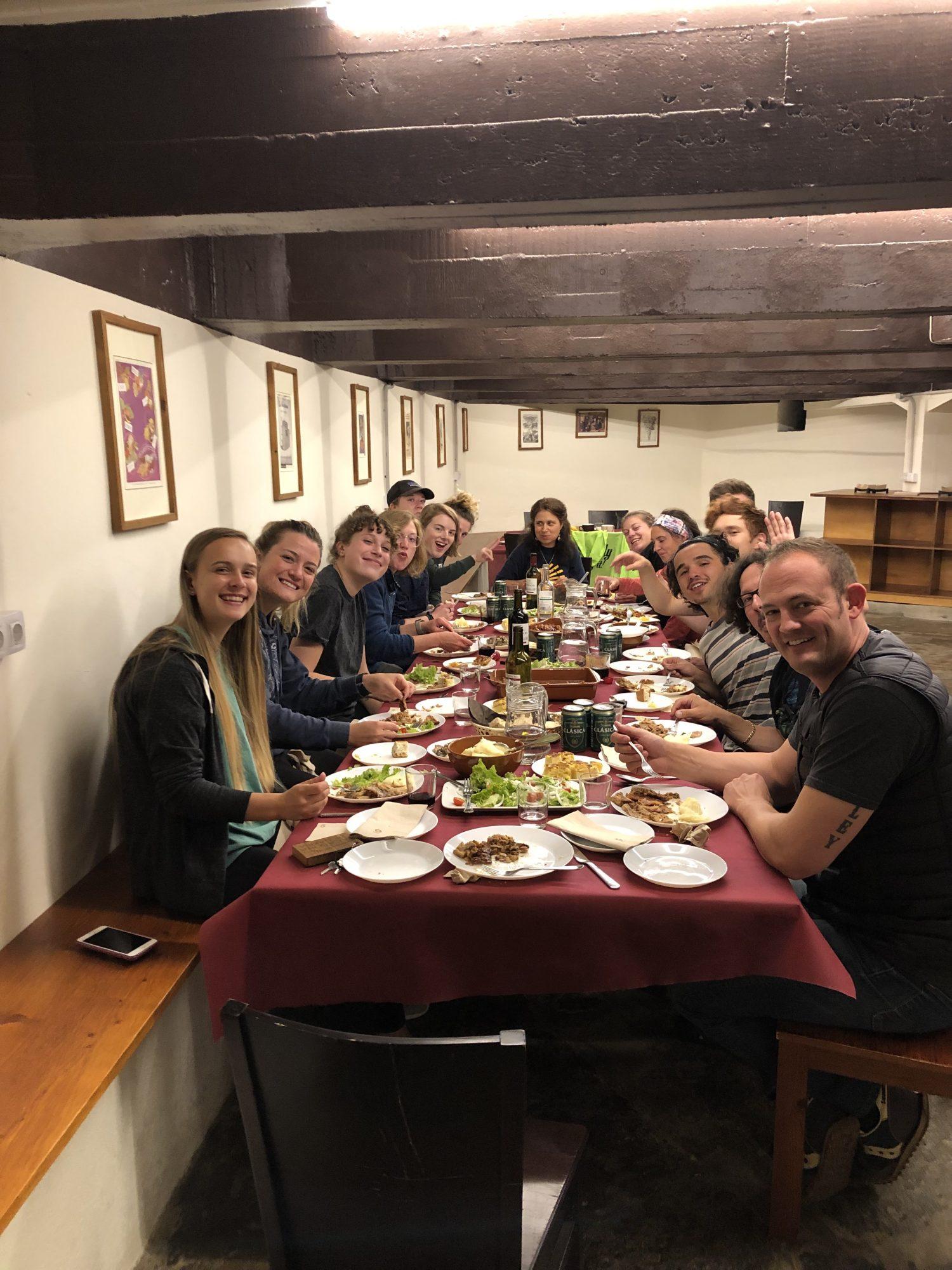 Dinner at Sarria