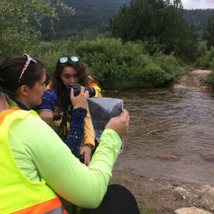 PPL participants set up their shot of a stream in Moraine Park