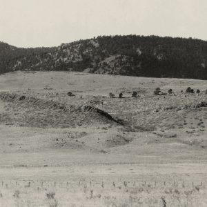 Historical view of the foothills outside Fort Collins