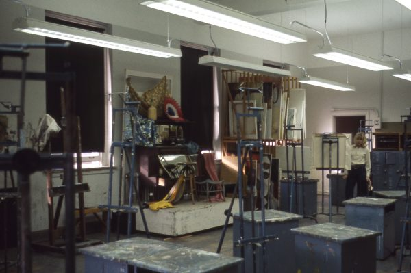 a painting classroom in Old Main in 1968, CSU