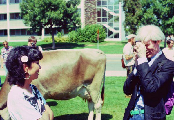 Andy Warhol visits CSU campus in 1981