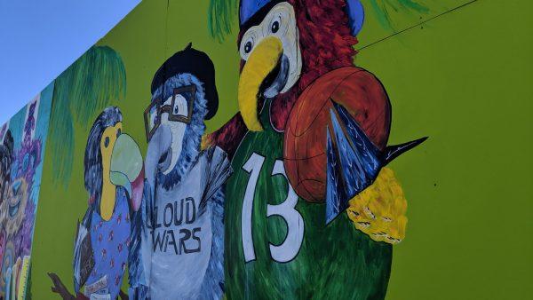 street art 3 birds