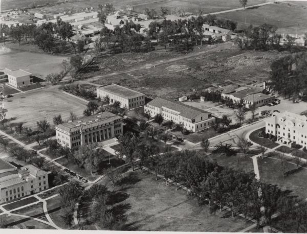 Aerial view of campus in 1941