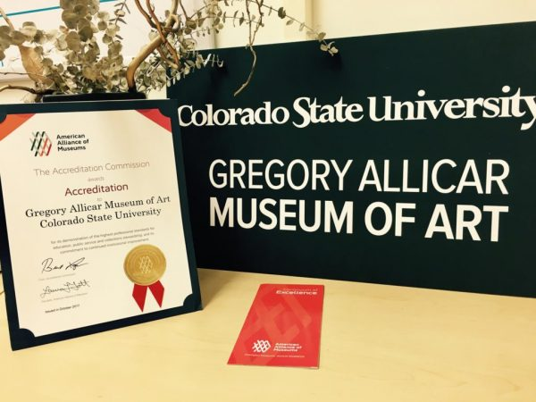 Gregory Allicar Museum of Art name plate and accreditation award