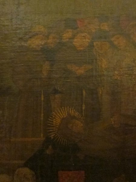 Photo of a painting of Delphine's funeral