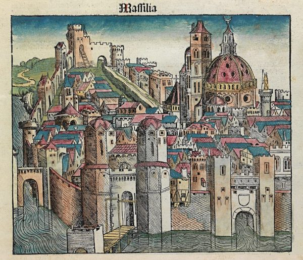 Marseille. Illustration from the Nuremberg Chronicle